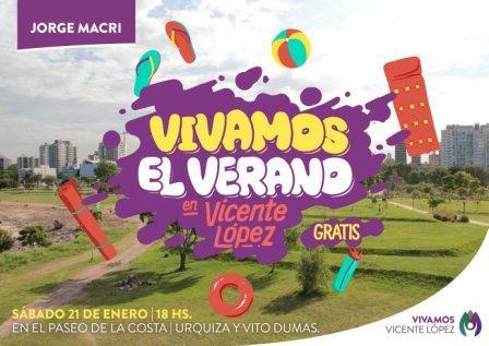 Tarde de shows infantiles en el Paseo de la Costa de Vicente López