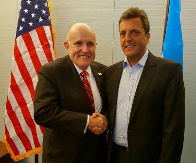 Sergio Massa se reúne con Rudolph Giuliani en Washington