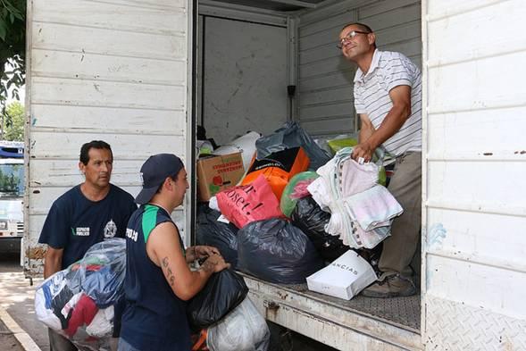 Campaña solidaria en San Isidro por los damnificados por el alud de Jujuy