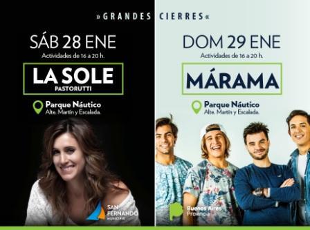 Este fin de semana, la Sole Pastorutti y Márama en San Fernando