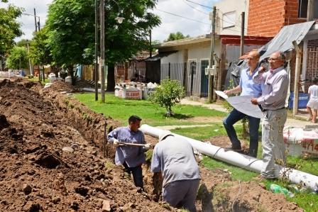 San Fernando construye el sistema hidráulico del barrio San Martín