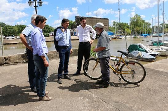 El intendente Gustavo Posse supervisó la primera etapa de tareas que consisten en la limpieza del lugar, mantenimiento del arbolado e incorporación de luminarias.