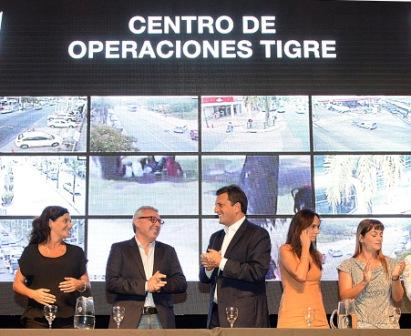 Julio Zamora y Sergio Massa presentaron la plataforma de seguridad Alerta Tigre Global