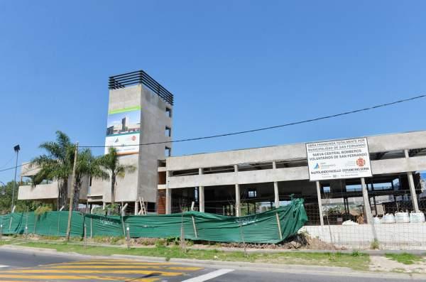 Avanza la obra del nuevo cuartel de Bomberos de San Fernando, que será el más grande del país