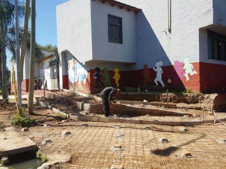 Más obras en las escuelas de Tigre para recibir el inicio de clases