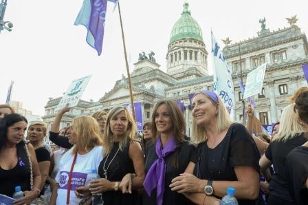 Malena en el Paro Internacional de Mujeres