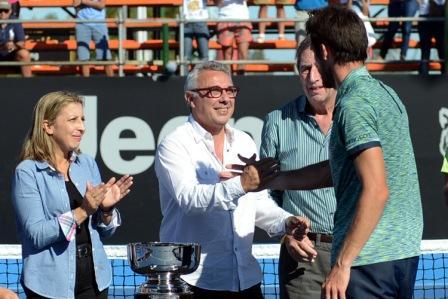 Zamora durante la gran final del Challenger ATP Copa Ciudad de Tigre.