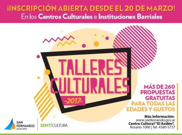 San Fernando abre la inscripción a los Talleres Culturales Municipales 2017