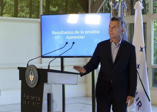 """Macri anunció que los resultados del Plan Argentina Aprende 2016 """"soprendentemente muy malos"""""""
