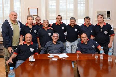 Julio Zamora renovó su apoyo a los veteranos de Malvinas de Tigre