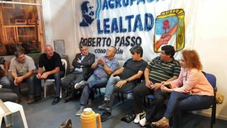 Roberto Passo ante unos 70 dirigentes y militantes de todas las localidades de Tigre