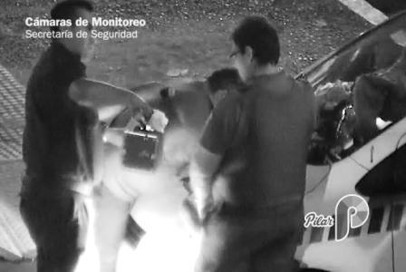Detienen a un  delincuente detectado por el Centro de Monitoreo de Pilar