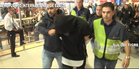 Banda del FAL: volvía de Miami, fue detenido y trasladado a Tigre