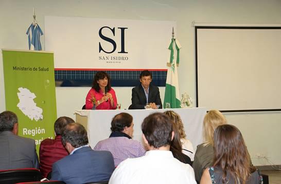 La ministra de Salud bonaerense Zulma Ortiz se reunió con el intendente Gustavo Posse, secretarios de Salud y directores de Hospitales de la Región V, que agrupa a 13 municipios.