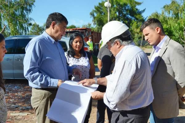 Jorge Macri recorrió las obras en el Barrio El Ceibo