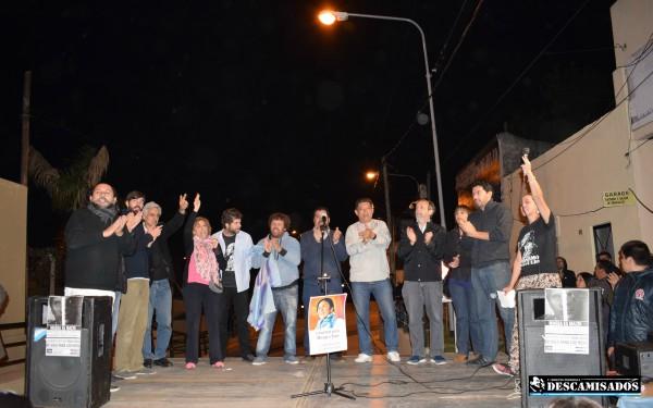 Masivo acto del Frente de Unidad Tigrense Haroldo Conti imagen a Paulo García (fotógrafo de la CP Descamisados Tigre)