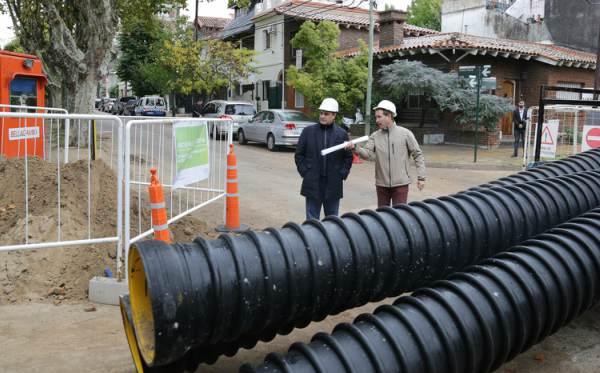El intendente de Vicente López, Jorge Macri, recorrió el Conducto Gaspar Campos, obra hidráulica que se está realizando sobre la loma, en el Bajo de Vicente López