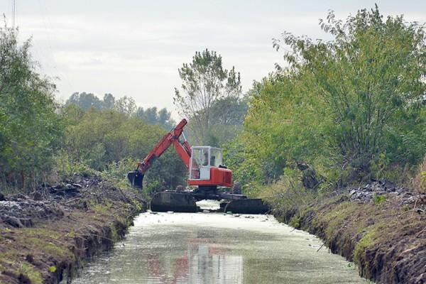 Troncos del Talar trabaja en el saneamiento de sus canales y arroyos