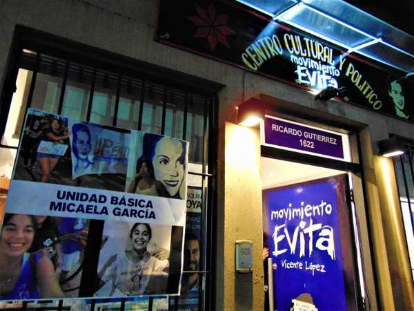 Inauguraron el Centro Cultural y Político Micaela García en Olivos