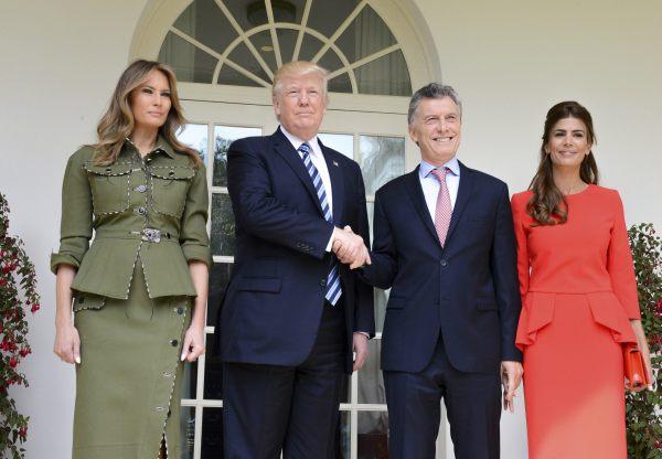 El presidente Mauricio Macri recibió hoy un fuerte respaldo de su par de los Estados Unidos, Donald Trump,