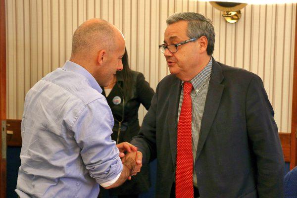 Ducoté recibió al Cónsul General de Chile en Pilar