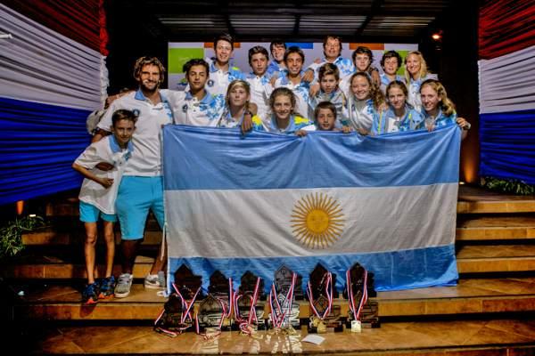 Argentina, campeón y subcampeón por Equipos en el Sudamericano de Optimist