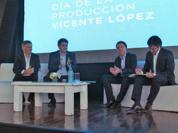 El Intendente de Vicente López Jorge Macri estuvo acompañado por el Ministro de Producción de la Nación, Francisco Cabrera, y el Ministro de Hacienda de la Nación, Nicolás Dujovne, en la apertura de esta jornada.
