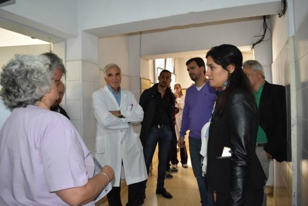 Galmarini y Ferraro visitaron el Hospital Cetrángolo