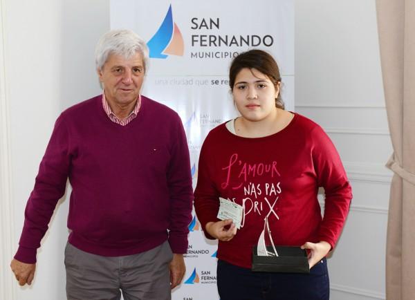 Andreotti recibió a Sabrina Lempke, la sanfernandina que competirá en el Panamericano de Ajedrez