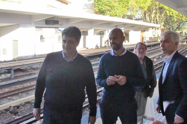 Dietrich y Jorge Macri recorrieron las obras de la estación Juan B Justo en Vicente López