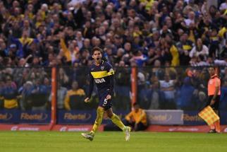 Fernando Gago, con poco, sobresalió en una mala tarde de Boca