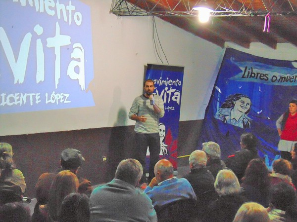 Plenario general de la militancia del Movimiento Evita Vicente López