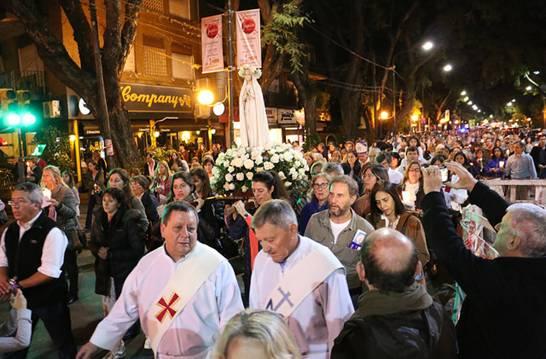 Las vírgenes de Fátima y Luján tuvieron sus fiestas en San Isidro