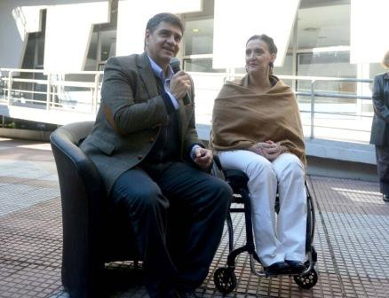 Gabriela Michetti y Jorge Macri recorrieron el Instituto Municipal de Rehabilitación Dr. Anselmo Marini