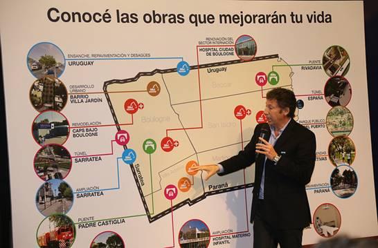 El intendente Gustavo Posse exhibió ayer en el Centro Municipal de Exposiciones los trabajos que el Municipio realizará en todo el Partido para mejorar la calidad de vida de todos los vecinos.