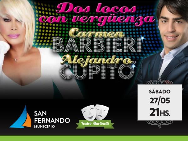 Carmen Barbieri en el Teatro Martinelli de San Fernando