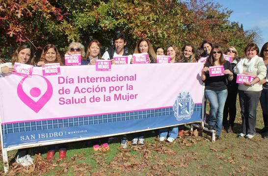 San Isidro se adhiere al día internacional de Acción por la Salud de la Mujer