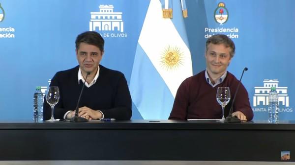 El secretario general de la Presidencia, Fernando de Andreis, y el intendente de Vicente López, Jorge Macri