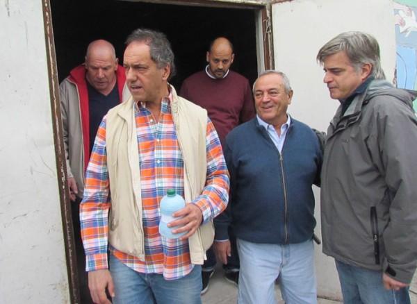 Scioli acompañó a Roberto Passo en los festejos patrios del peronismo de Tigre