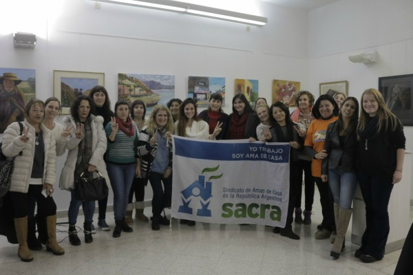"""María Lucila """"Pimpi"""" Colombo, titular del Sindicato de Amas de Casa de la República Argentina (SACRA) brindó una charla por el Día Internacional de Acción por la Salud de la Mujer en el Concejo Deliberante de Vicente López."""