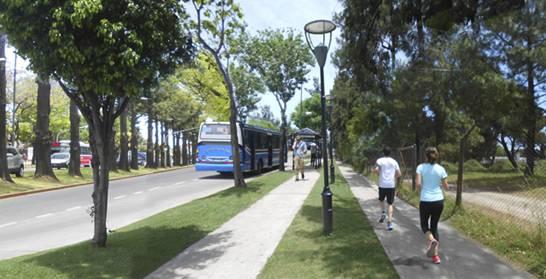 Avanza la senda aeróbica alrededor del golf de Villa Adelina