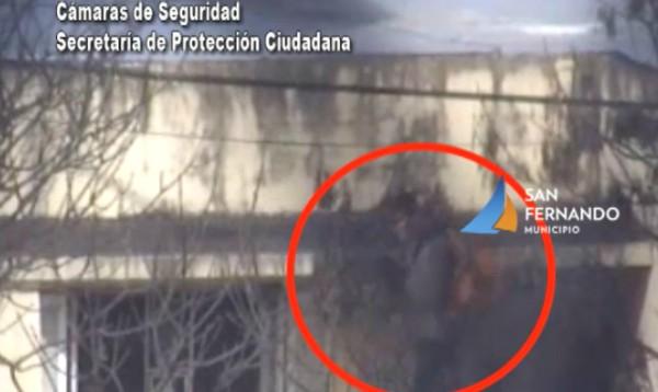 San Fernando: gracias a las cámaras, un hombre fue detenido por robar en una casa