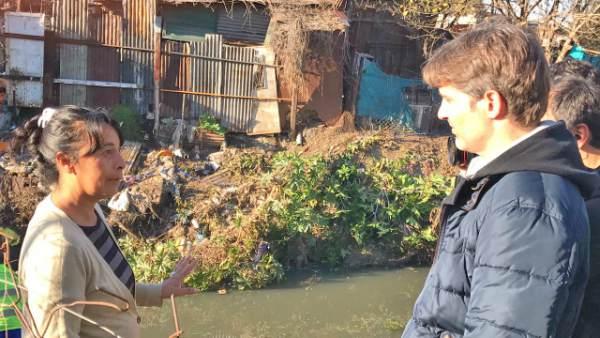Segundo Cernadas acompañó a los 300 cooperativistas en la limpieza del arroyo Las Tunas.