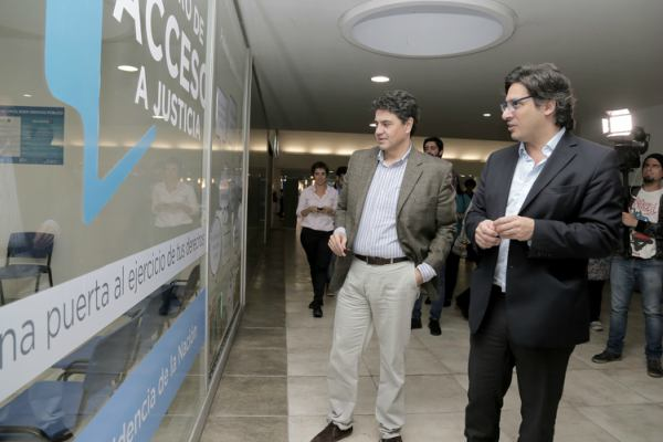 Junto al ministro Garavano, Jorge Macri inauguró dos oficinas de Justicia en la estación Aristóbulo del Valle