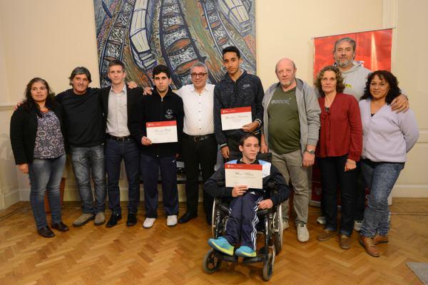 Deportistas destacados de Tigre fueron recibidos por Julio Zamora