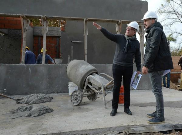 Julio Zamora supervisó el avance de construcciones y obras viales en Benavídez