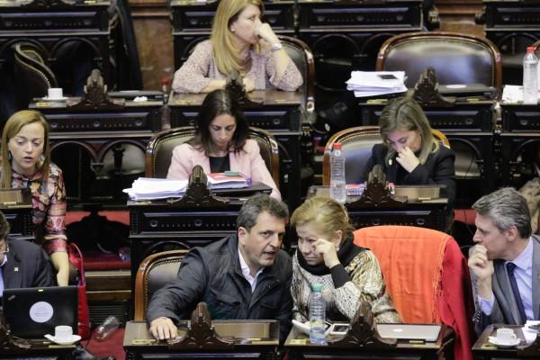 Sergio Massa, en el marco del debate por la Ley de Responsabilidad Penal Empresaria en el Congreso de la Nación