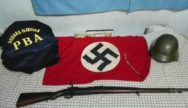 Desarticulan una banda narco y secuestran objetos relacionados al nazismo: hay cinco detenidos