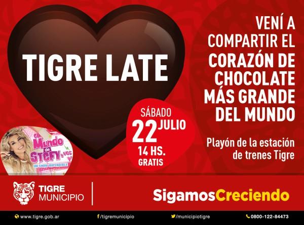 Tigre compartirá el corazón de chocolate más grande del mundo