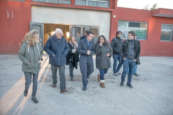 En su primer día como Director General de Escuelas de la Provincia de Buenos Aires, Gabriel Sánchez Zinny recorrió los avances de las obras en la escuela N°5 de San Fernando
